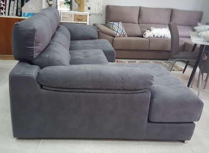 Imagen producto Sofa viscolastico antimanchas antracita 3