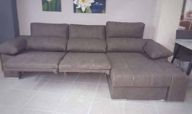Imagen producto Sofa chaiselongue relax motor antimanchas moka 4