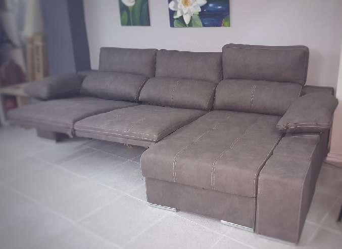 Imagen producto Sofa chaiselongue relax motor antimanchas moka 3