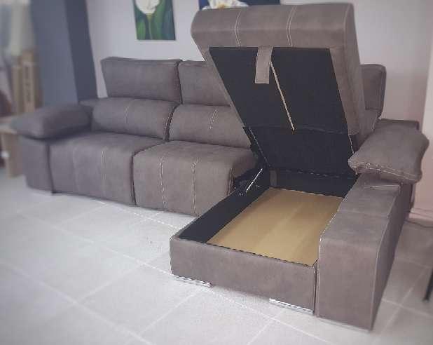 Imagen producto Sofa chaiselongue relax motor antimanchas moka 5