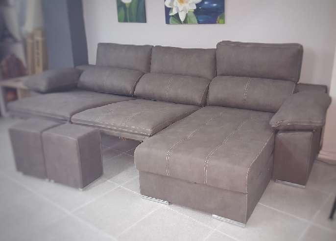 Imagen producto Sofa chaiselongue relax motor antimanchas moka 2