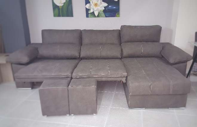 Imagen Sofa chaiselongue relax motor antimanchas moka