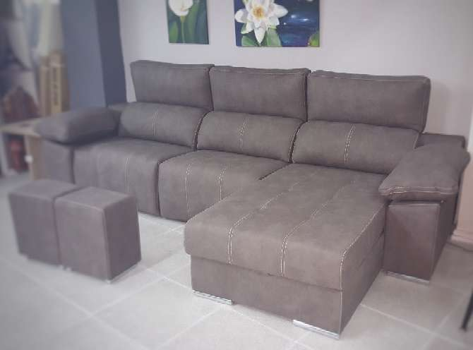Imagen producto Sofa chaiselongue relax motor antimanchas moka 6