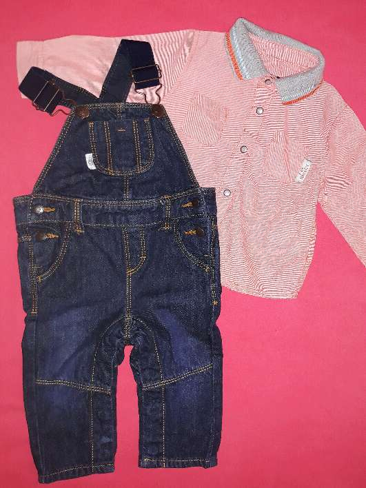 Imagen producto Camisa y peto bebé, 6m.  2