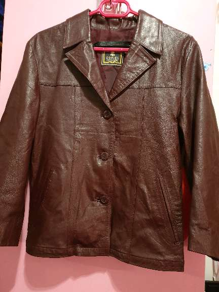 Imagen chaqueta piel marrón