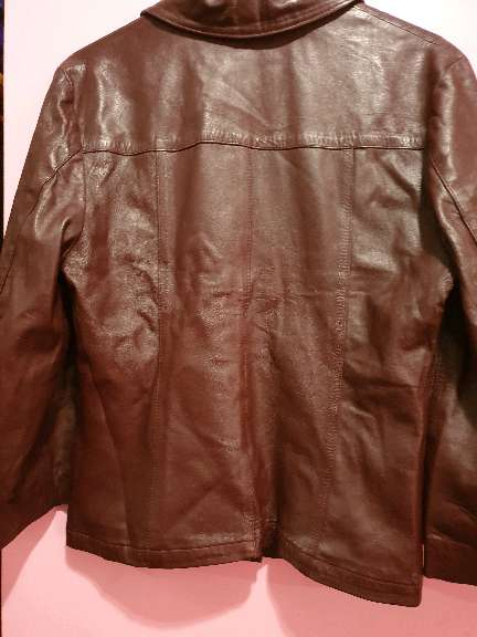 Imagen producto Chaqueta piel marrón  2