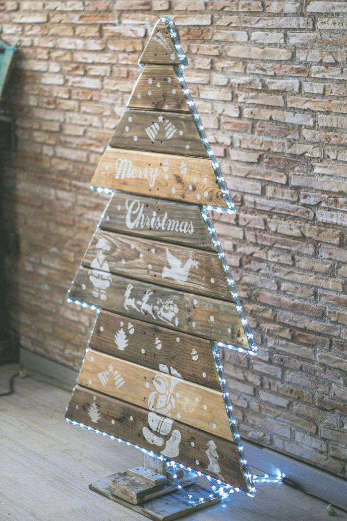 Imagen producto Árbol madera navideño 7