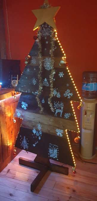 Imagen producto Árbol madera navideño 5