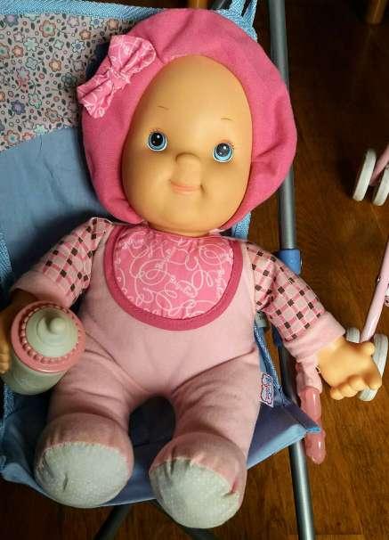 Imagen producto Silla Maclaren más muñeca rosa Baby 2