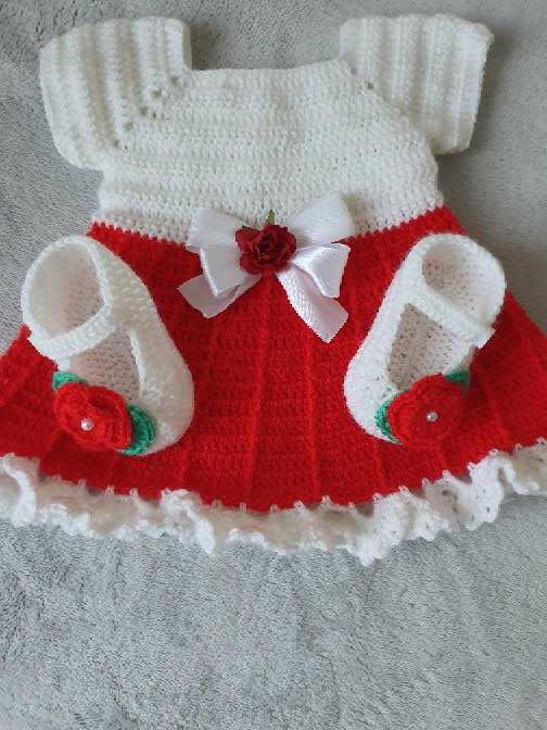 Imagen producto Vestido con zapatitos bebe  1