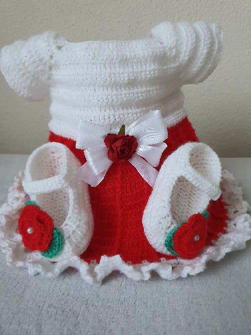 Imagen producto Vestido con zapatitos bebe  2