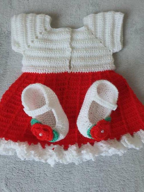 Imagen producto Vestido con zapatitos bebe  4