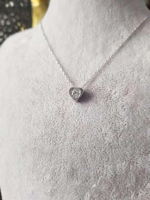 Imagen Colgante de plata de Ley corazón con piedra Swarosky