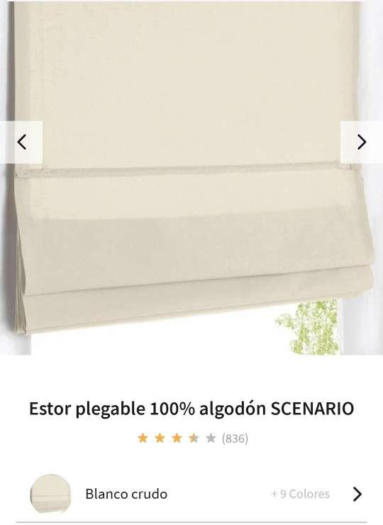 Imagen Stor plegable 100% algodon 60x170