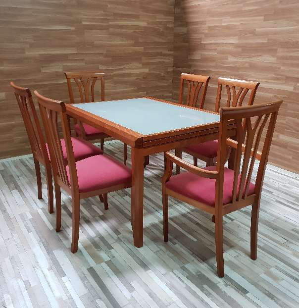 Imagen Conjunto mesa salon madera haya