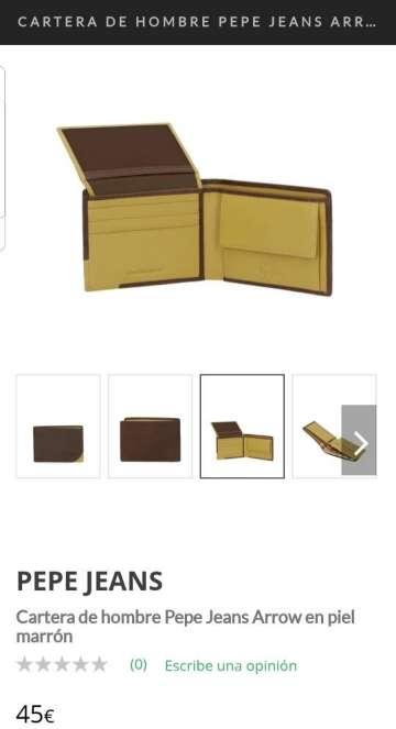 Imagen producto Cartera de piel Pepe Jeans marrón 4