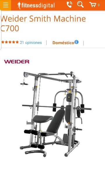 Imagen producto Máquina de musculación Weider C700 1