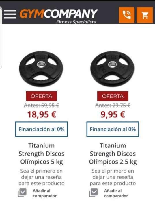Imagen producto Barra olímpica de 2,2m + 80kg en discos olímpicos 3