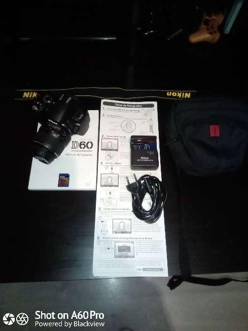 Imagen producto Cámara Nikon D60 con Objetivo 18:55mm 6