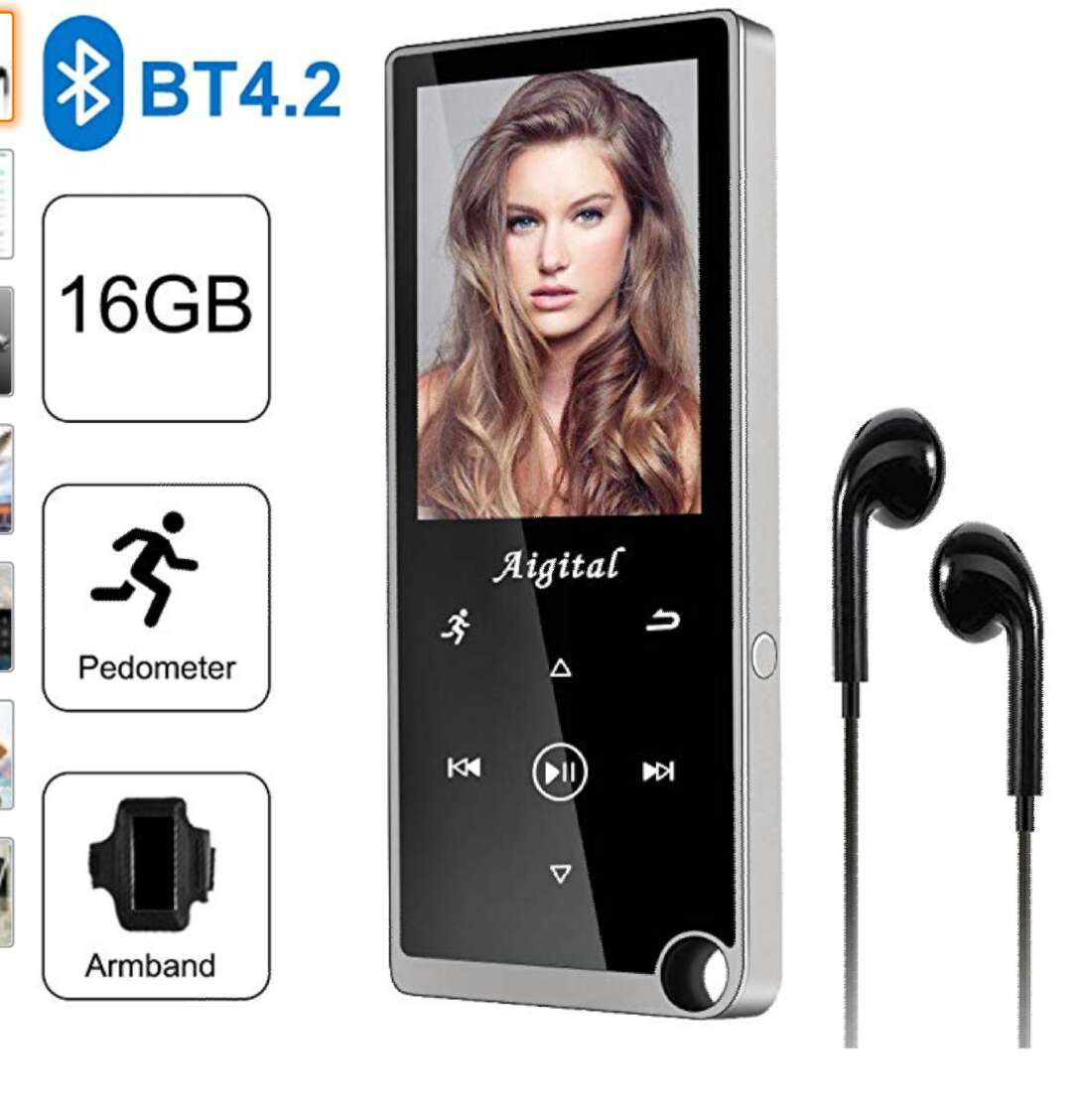 Imagen reproductor mp3 Bluetooth