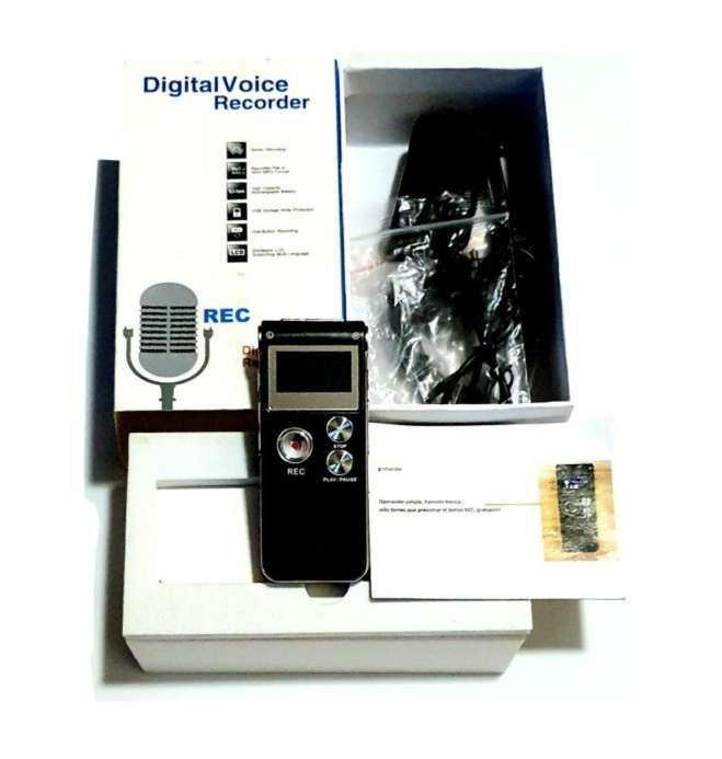 Imagen Grabadora De Voz Digital 8GB, Espía, Espionaje
