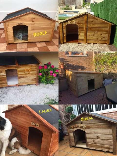 Imagen producto Caseta de madera para dos perros grandes  3