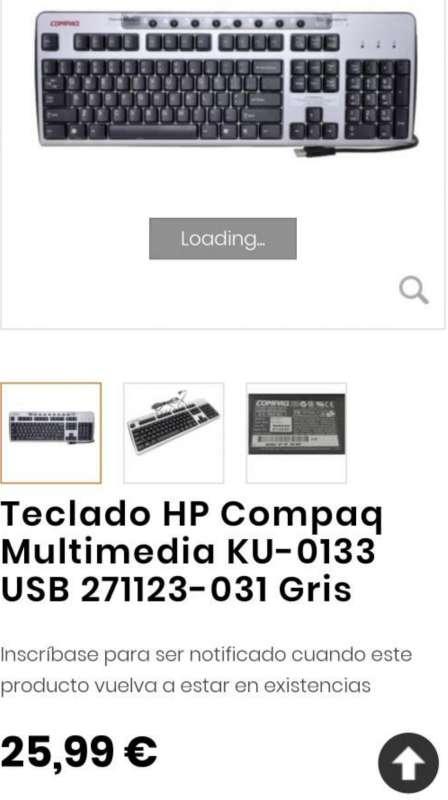 Imagen producto Teclado De Ordenador HP KU-0133 3