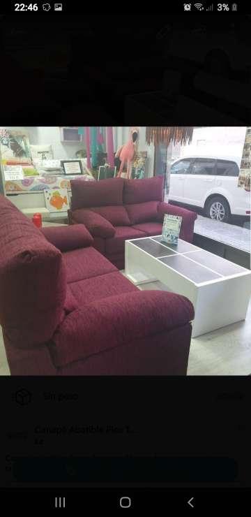Imagen conjunto tres más dos plazas extraíble los asientos y reclinables los respaldos