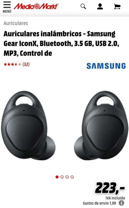 Imagen producto Cascos Samsung Gear Iconx 2018 5