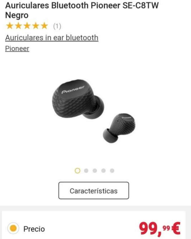 Imagen producto Auriculares PIONEER SE-C8TW Inalámbricos 3