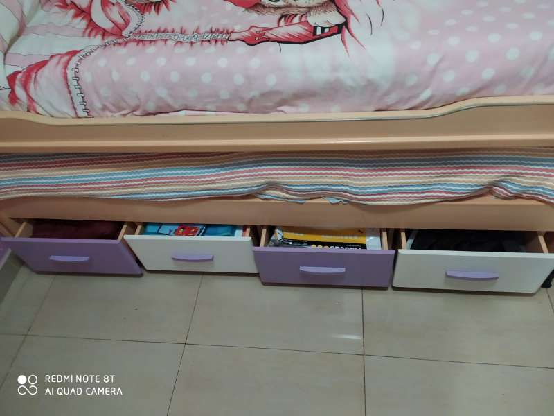 Imagen cama nido con dos colchones y 4 cajones
