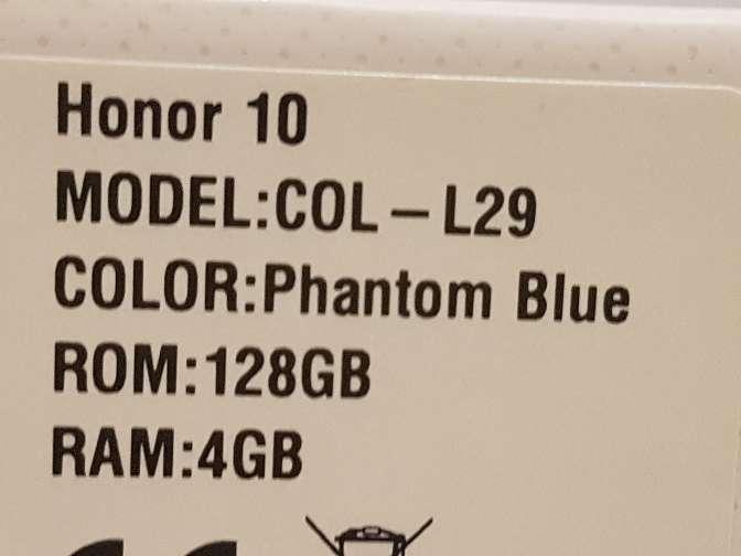 Imagen producto Honor 10 azul 128Gb 5
