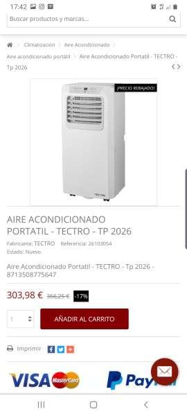 Imagen producto Aire acondicionado Portátil tectro 2