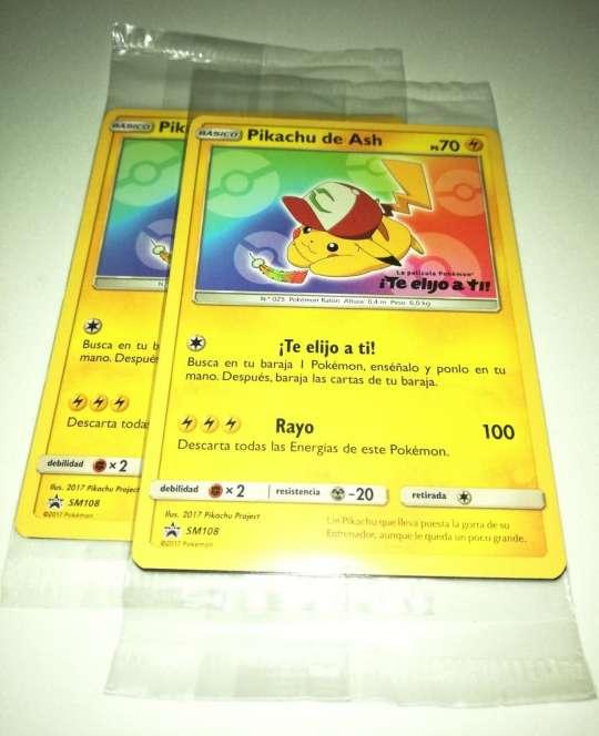 Imagen producto Cartas Pokémon Pikachu Te Elijo A Tí Sin Abrir JCC 3