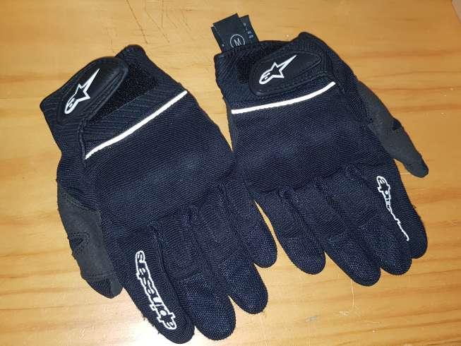 Imagen chaqueta y guantes alpinestar