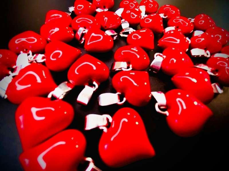 Imagen producto Colgante corazón Esmaltado 2
