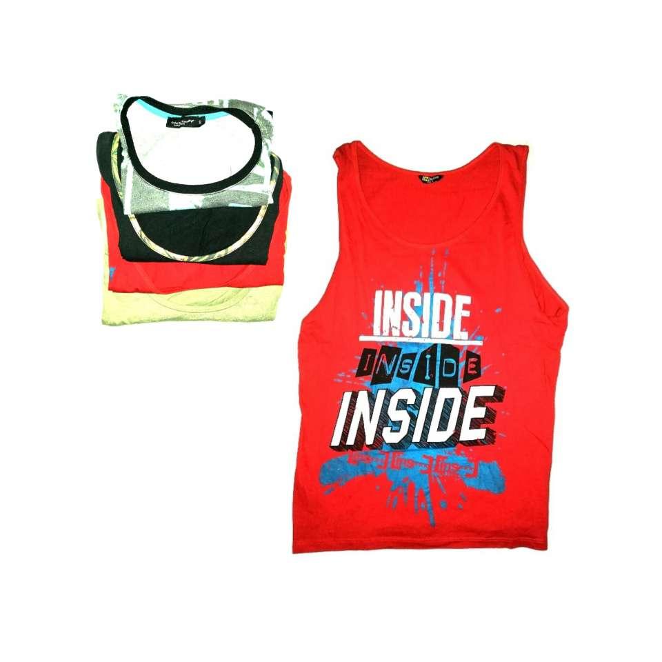 Imagen producto Lote De 4 Camisetas Sin Mangas Bershka Y Más 1