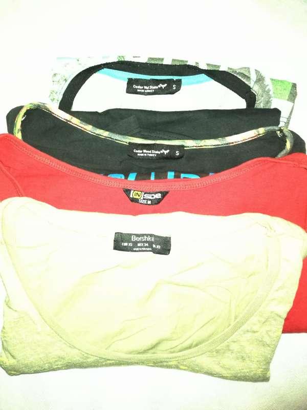 Imagen producto Lote De 4 Camisetas Sin Mangas Bershka Y Más 7