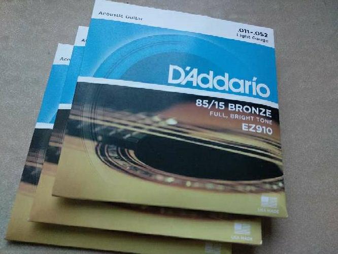 Imagen producto 3 juegos Cuerdas guitarra D'addario. a elegir 4