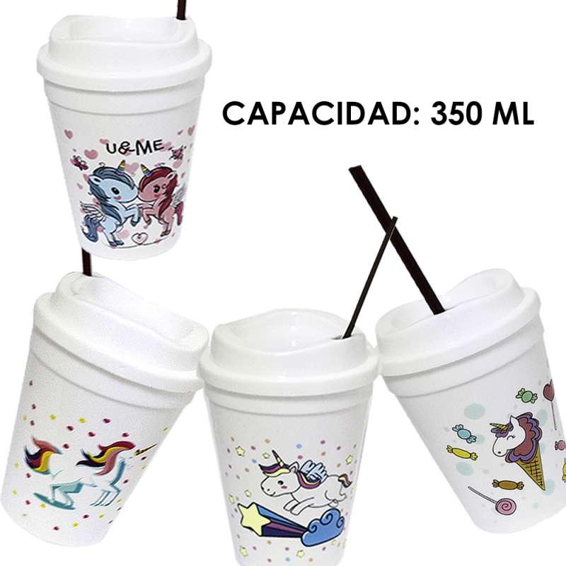 Imagen MT154 Vaso con Tapa Para Café. 4 piezas