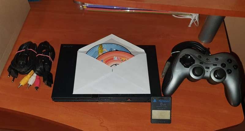 Imagen producto Videoconsola Ps2 PlayStation Slim + Lote De Regalo 2