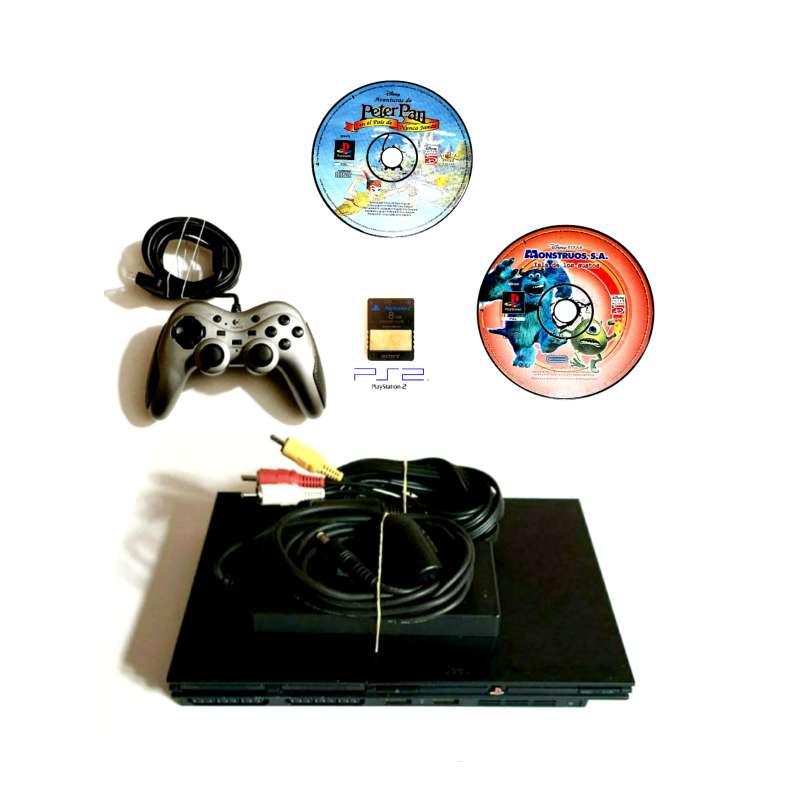Imagen Videoconsola Ps2 PlayStation Slim + Lote De Regalo