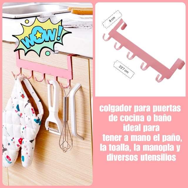 Imagen producto Colgador para puertas de armarios de cocina o baño. 1
