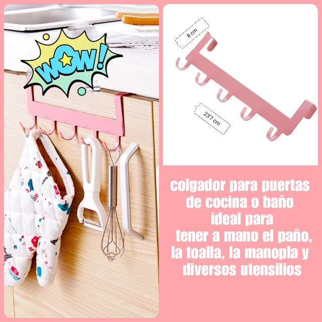 Imagen Colgador para puertas de armarios de cocina o baño.
