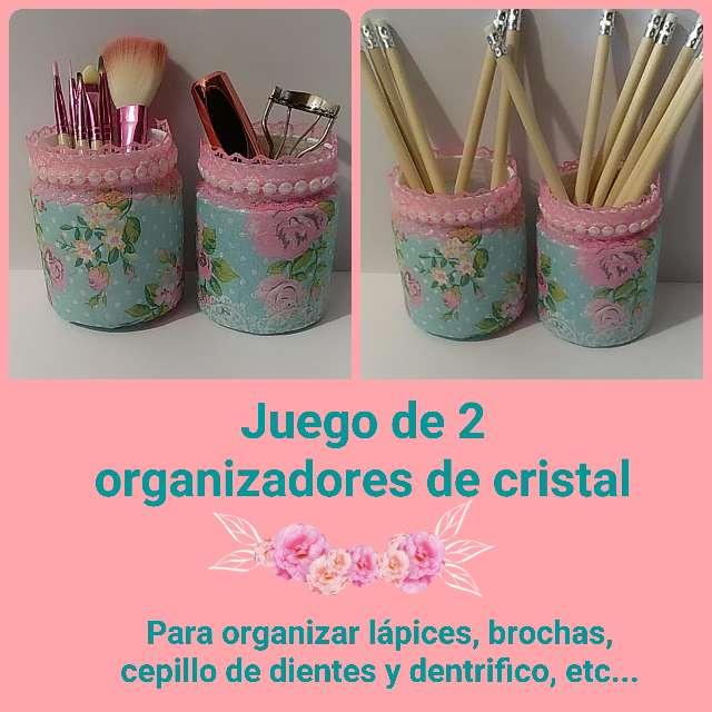 Imagen Juego de 2 organizadores cristal mint y rosa