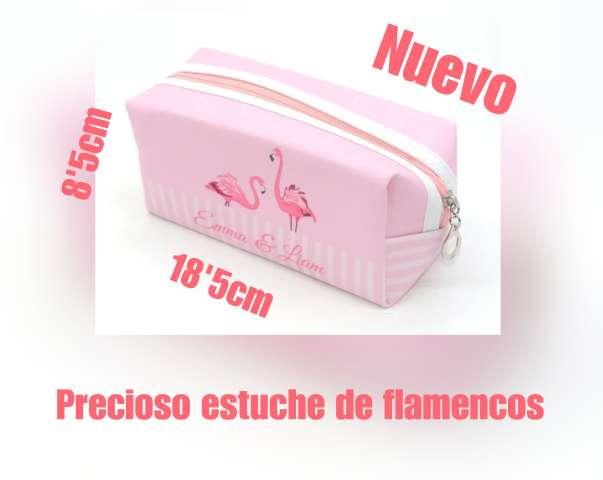 Imagen producto Precioso estuche - neceser de flamencos. 1