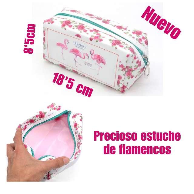 Imagen Estuche - neceser de flamencos. Nuevo.
