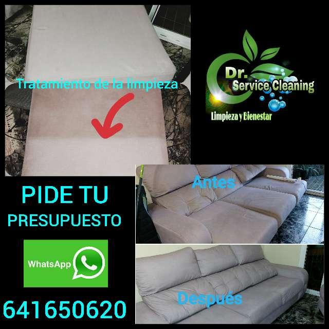 Imagen producto Tratamiento de limpieza de tapicería de sofá sillón sillas colchones alfombra  1