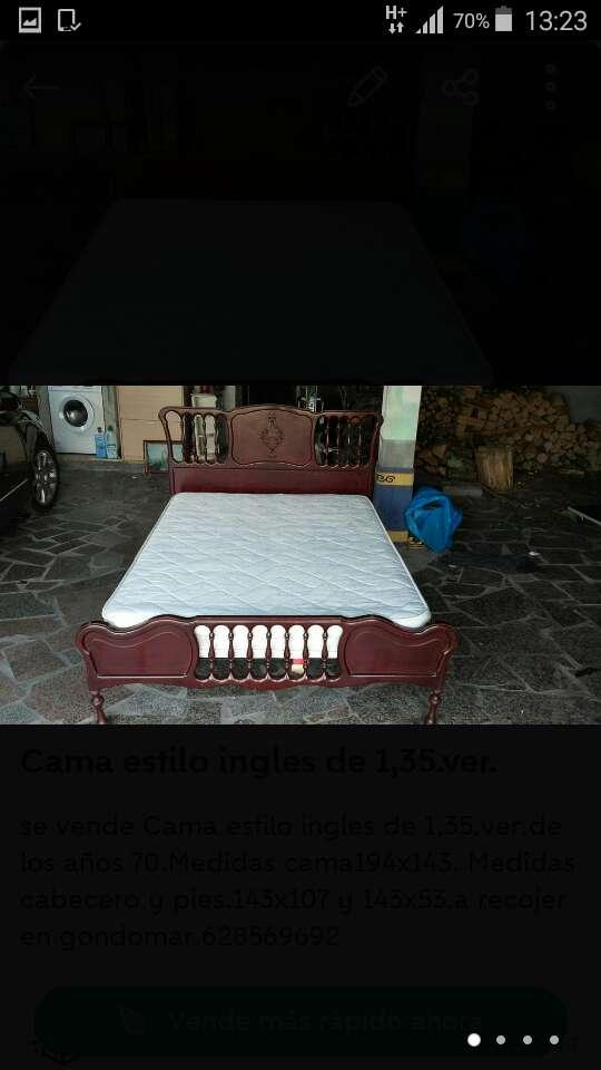 Imagen Cama estilo ingles de 1,35.ver.