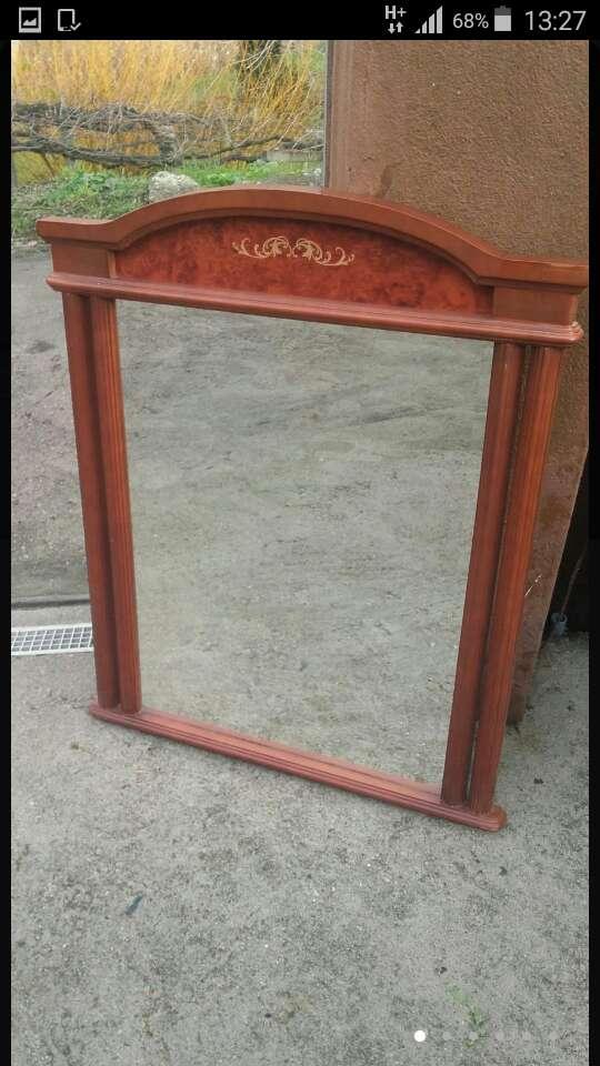 Imagen espejo antiguo madera de 109x89x4,5.